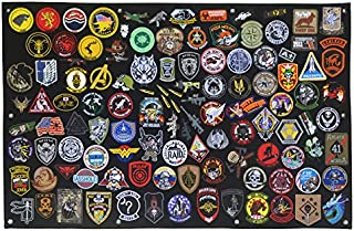 Antrix Tactical Morale Patch Panel Patch Display Board Patch Holder Patch Display Poster Frame Military Hook and Loop Backing Patch Board Panel -XL (43.5x27.5
