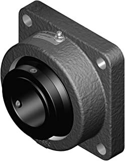 Sealmaster USFBE5000-207 Unitized Spherical Split Cast Iron Roller Bearing, Flange Block, 4 Bolt Base, Collar Mount with Type E Dimensions, 5/8