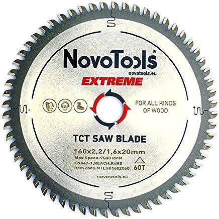 NOVOTOOLS EXTREME Lame de scie circulaire à bois 160 x 20 mm x 60 dents pour scies Festool, Bosch, Makita, DeWalt etc. Haute qualité