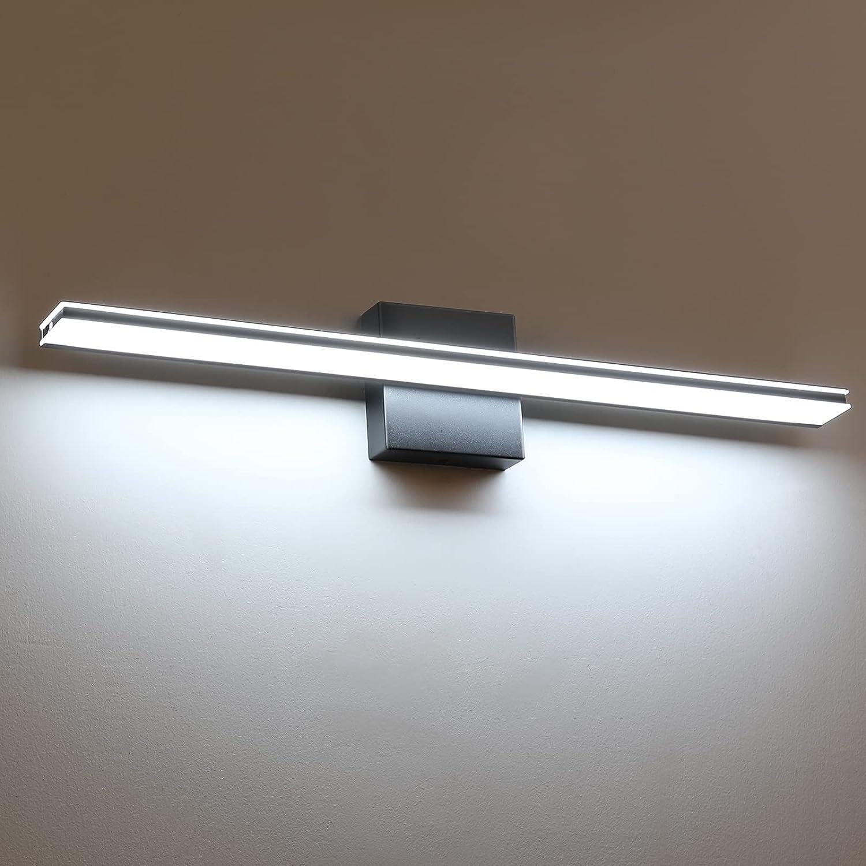 Wowatt Bathroom Light Fixtures Matte Black 24 Vani Inch OFFicial OFFer store