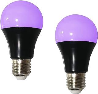 GREENIC UV LED Black Lights Bulb, 8W (60w Equivalent) A60 E27 Bulb, 385-400nm, Glow in The Dark for Blacklight Party, Body...