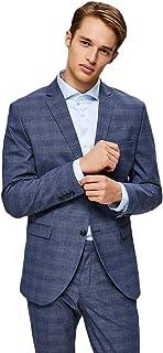 Selected Men's Slhslim-mylobill Blue Check BLZ B Noos Blazer