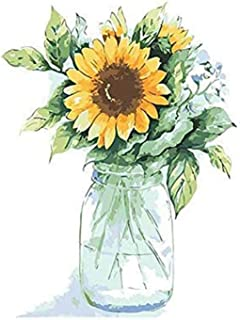 DIY Paint by Numbers for Adults Beginner Kids, 16x20 inches Sunflower Acrylic Canvas Painting Kit with 3pcs Paint Brushes ...