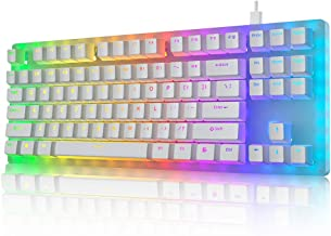 Womier K87 Mechanical Gaming Keyboard 60% Hot Swappable Keyboard Partitioned RGB Backlit Compact 87 Keys for PC PS4 Xbox O...