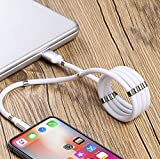 New Magnetic Charging Cable USB-Lighting New Winding Technology Very Organized 3ft Long Fashionable 3A Fast Charging Data Transfer Cord (Lighting)