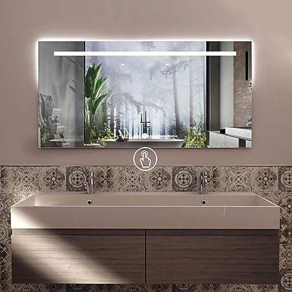 Styleglass Specchio Da Bagno Rettangolare Personalizzabile Atena 120 X 60 Cm Made In Italy Specchio Parete Com Spessore Vetro 4mm Kit Fissaggio Murale Incluso Grado Di Protezione Ip20 Amazon It Casa E Cucina
