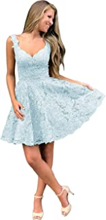 Jonlyc Charming V Neck Beaded Appliques Short Homecoming Dresses Backless