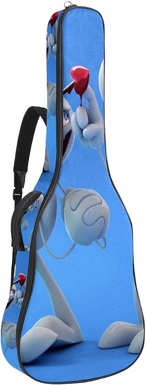 Dos dibujos animados, Guitarra Eléctrica Caso Grueso Gig Bolsa Suave Acolchado Grueso con Asa y Correa de Hombro