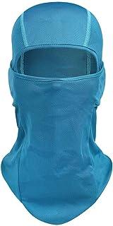 PRETYZOOM Balaclava Face Shield Neck Gaiter Scarf Bandana Hood Protection from Dust Aerosols Elements Blue