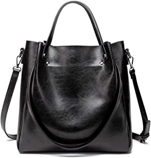 Women Leather Handbags Large Soft Shoulder Tote Bags for Office Work Retro Fashion