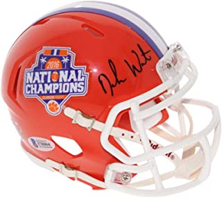 Deshaun Watson Autographed Signed Clemson Tigers 2016 National Champions Commemorative Riddell Speed Mini Helmet - Beckett Authentic