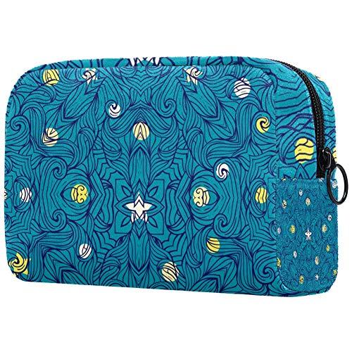 Van Gogh's Style Night Sky avec étoiles Sac de maquillage portable imprimé sac cosmétique pour femme sac de voyage