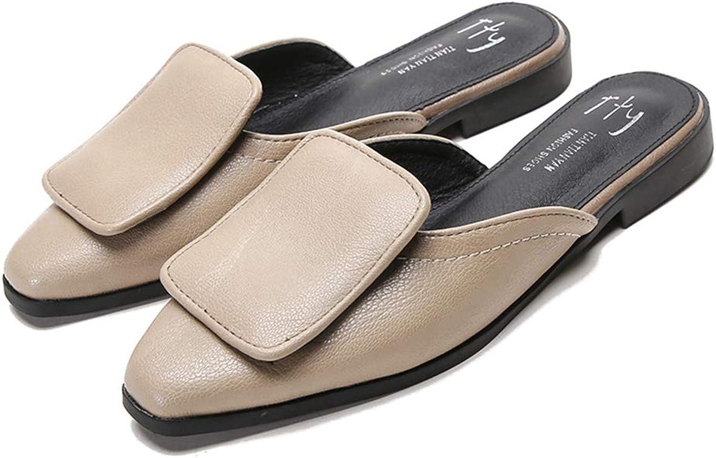 Brilliant sun Women's Slip on Low Heels Flat Pointed Toe Mule