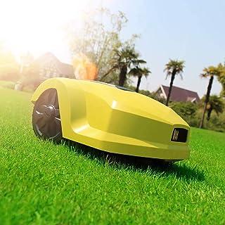 MUXIN Robot Cortacésped, Cortacésped eléctrico para Jardines de hasta 800 m², Ancho de Corte 20 cm, Altura Corte 25-50 mm, Pendiente de 35%, función trituradora