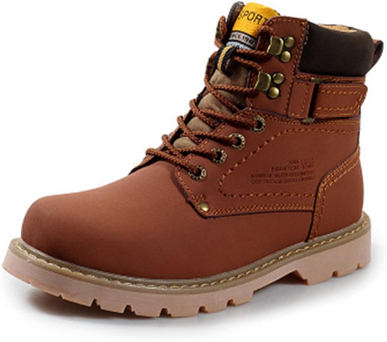 TYPOST Men's Women's Winter Warm Outdoor Work shoes Soft Fur Lined High Top Martin Boots
