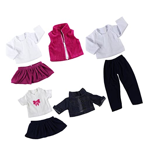 e1e4f8c43d4 Sharplace 3 suit Cute Dress Skirt Shirt Outfit for 18   American Girl Doll  Journey
