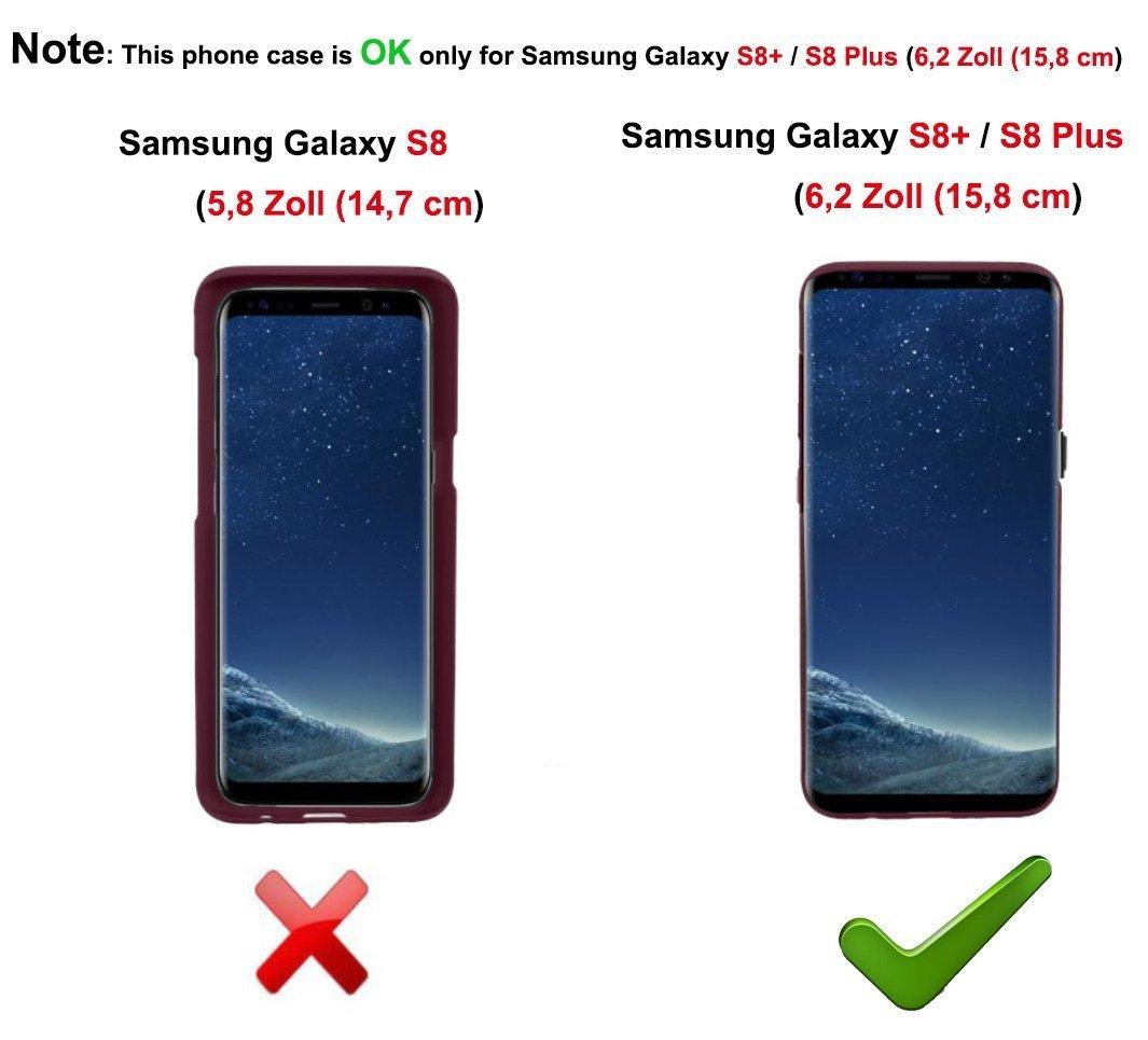 Fine Finet Funda con Colgante para Samsung Galaxy S8 Plus / S8+, Carcasa Transparente TPU Suave Silicona Case con Ajustable Collar Correa de Cuello Cadena Cordón [Anti-Choque Protección]: Amazon.es: Electrónica