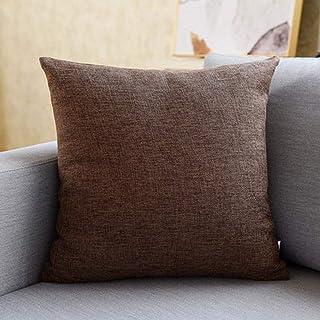 LLKK Coussins de canapé,Oreillers,oreillers + taies d'oreiller,Lin épais