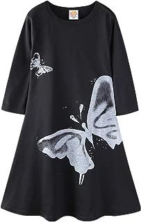 Áo quần dành cho bé gái – Little Girls Long Swing Dress Vivid Butterfly Casual Maxi Dress