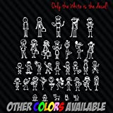 Custom Stick Figure Family Vinyl Diecut Decal for Car Truck Window