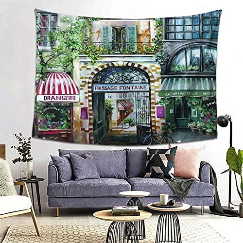 FOURFOOL Wandteppich,Rue Di Rivoli Paris Frankreich,Wandteppiche Wandverkleidung Wandteppich Tagesdecke Picknickdecke Tapisserie Decke Wanddecke werfen Art Home Decor