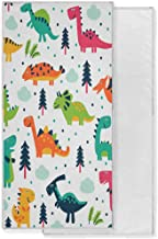 WXLIFE Hand Towel Cartoon Dinosaur Animal Tree Pattern Face Towel Quick Dry Towel Absorbent Bathroom Beach Towel Gym Yoga ...