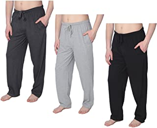 Men's Jersey Knit Pajama Pants Long Lounge Pants Available in Plus Size
