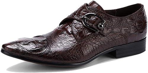 YCGCM Chaussures pour Hommes Modèle Crocodile Angleterre Wearable Décontracté Trend Faible-Top chaussures