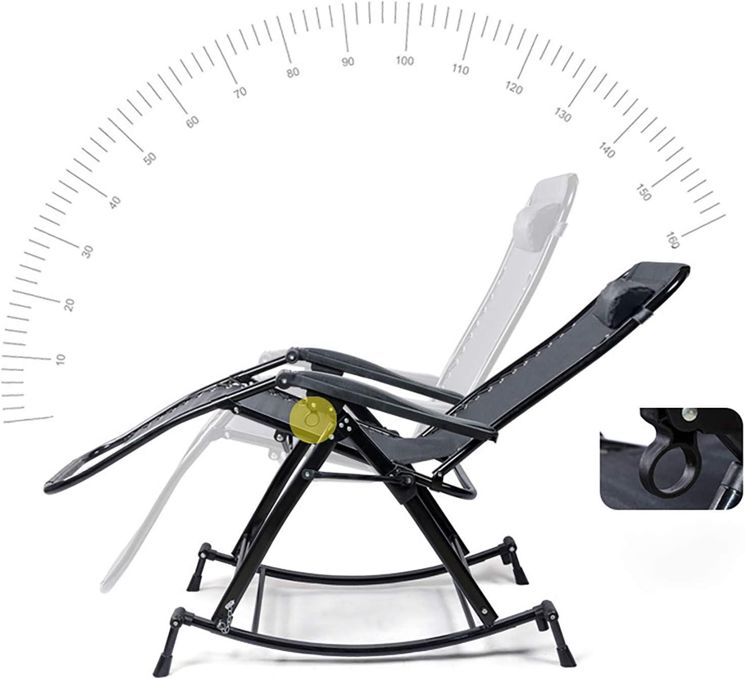 ATTDDP Pliable Chaise À Bascule Fauteuil À Bascule Fauteuil Lounge Chaise De Détente Chaise Inclinable pour Patio Ou Une Véranda,A B