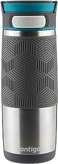 Contigo AUTOSEAL Transit 不锈钢旅行杯,453.59 克,极地白色带灰色玉 Stainless Steel with Blue 16盎司 72339