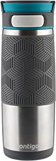 Contigo AUTOSEAL Transit Stainless Steel Travel Mug, 16 oz, Stainless Steel with Blue