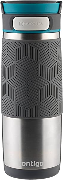 Contigo AUTOSEAL Transit Stainless Steel Travel Mug 16 Oz Stainless Steel With Blue