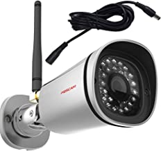 Foscam FI9800P - Cámara IP inalámbrica HD 1.0 MP, Color Plateado + alargador