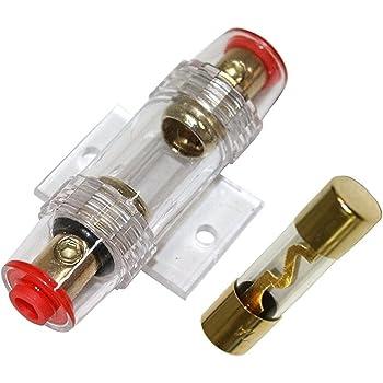 Kit cavi cablaggio per montaggio amplificatore amplificatore auto alimentazione 8/mm2/suo RCA Fusibile Aerzetix
