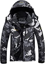 MOERDENG Men's Waterproof Ski Jacket Warm Winter Snow Coat Mountain Windbreaker Hooded Raincoat