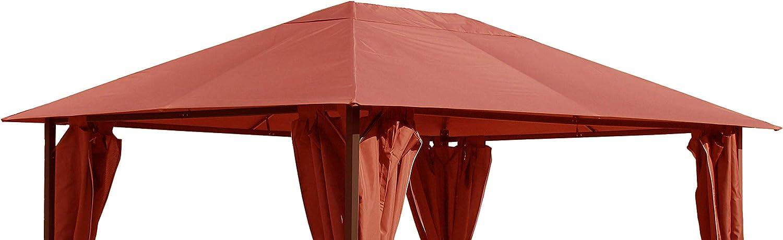 QUICK STAR Techo de Remplazo para Pabellón 3x4m Taupe Antiguo y Clásico Terracota Naranja