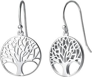wooden tree of life earrings