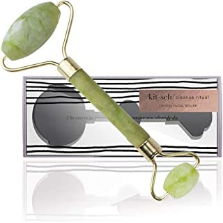 Kitsch Jade Roller for Face - Facial Roller for Eyes, Neck and Body - Jade Facial Massager