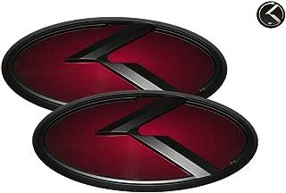 3D K Logo Emblem Red & Black Edition Set 3pc Front + Rear + Mini Sticker (Fit: KIA 2010-2016 SOUL)