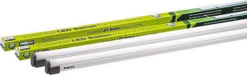 Philips Astra Line 20-Watt 4-Feet LED Tubelight Batten (Cool White, Pack of 2)