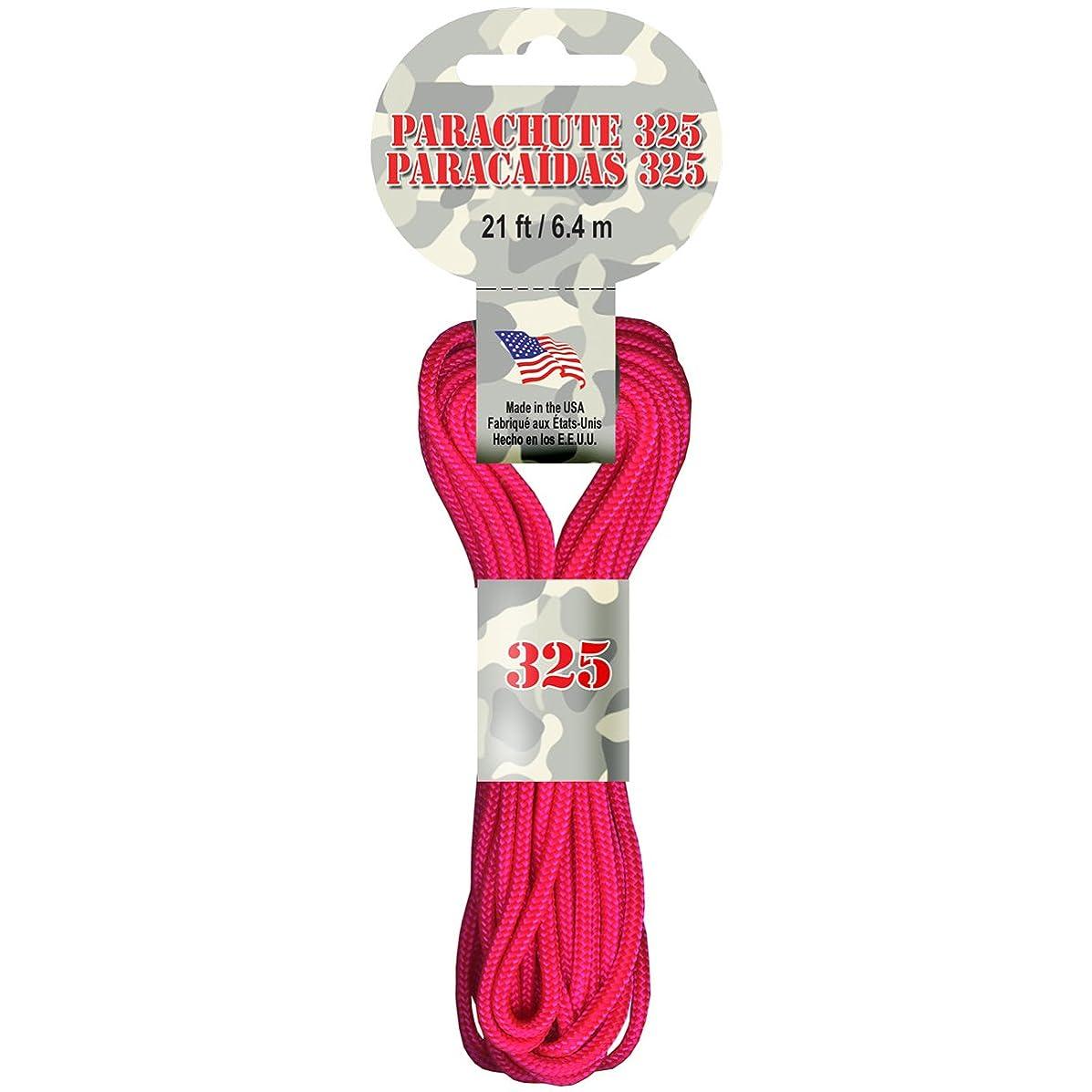 Pepperell Parachute Cord, 3mm/ 21-Feet, Neon Pink