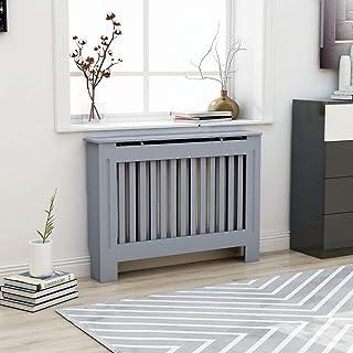 Ausla - Funda para radiador de MDF, moderna, para radiador, protección de radiador, 112 x 19 x 81 cm, color antracita