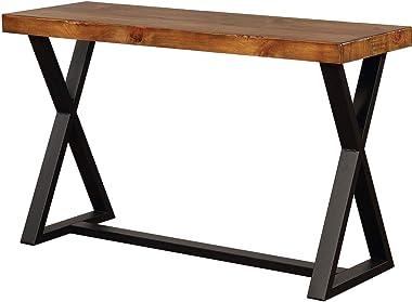 William's Home Furnishing Nikki Sofa Table, Brown, Black
