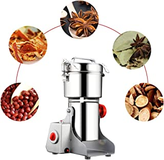 Electric Grain Grinder, Ultra-fine Mill Powder Machine Swing Type Dry Cereals Grain Mixer Mill for Herb Grinding Grain Pulverizer (700g)