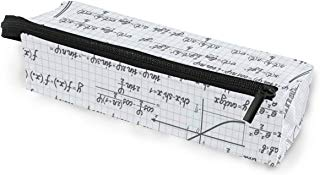 Glasses Case Mathematical Formula Multi-Function Zippered Pencil Box Makeup Cosmetic Bag for Women