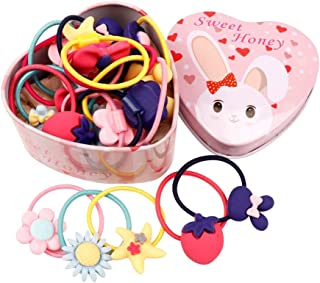 Ziory 20 pcs multicolor headband set Hair Accessories in a stylish elegant Tin Box for baby Girls and Toddler Girls (Retur...