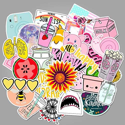Small Fresh Graffiti Stickers Suitcase Car Guitar Stickers 100Pcs