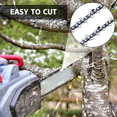 Honoson Mini Chainsaw Chain 4 Inch Chainsaw Chain Mini Guide Saw Chain Replacement Portable Lightweight Mini Chainsaw Chain Guide Chain for 4 Inch 550W 24V 26V 36V Cordless Electric Chainsaw