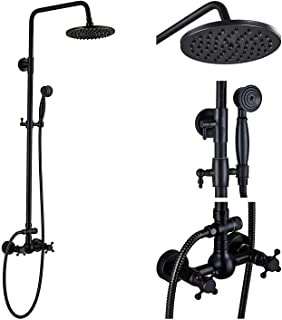 Rozin Bathroom Shower Faucet Set 2 Knobs Mixing 8 inch Rainfall