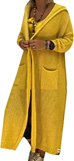 Women's Long Sleeve Maxi Open Front Loose Long Cardigan Long Sweater Outwears